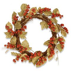 National Tree Company 24' Artificial Berry & Leaf Vine Wreath