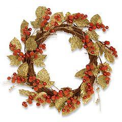 National Tree Company 24' Artificial Berry & Leaf Vine Wreath