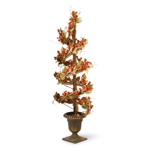 "National Tree Company 48"" Artificial Berry & Leaf Vine Topiary"