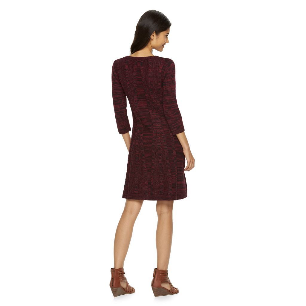 Juniors' Freshman Cable-Knit Sweaterdress