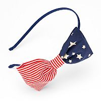 American Flag Bow Headband