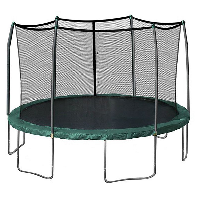 Skywalker Trampolines 15-ft. Round Trampoline with Enclosure, Green