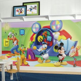 Disney's Mickey Mouse & Friends Clubhouse Capers Removable Wallpaper Mural