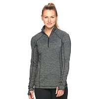Women's Tek Gear® Space-Dye Quarter-Zip Workout Jacket