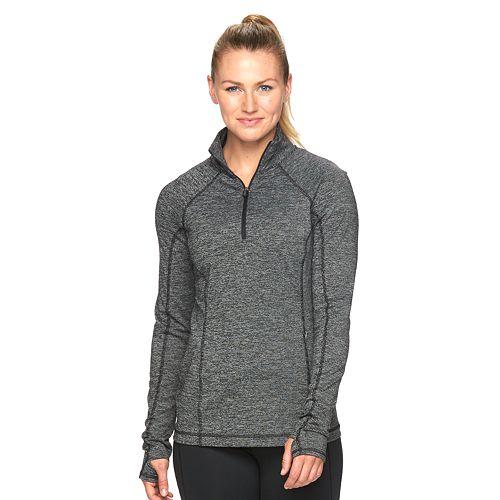 Women's Tek Gear® Space-Dye Quarter-Zip Workout Jacket