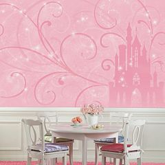 Princess Scroll & Castle Removable Wallpaper Mural
