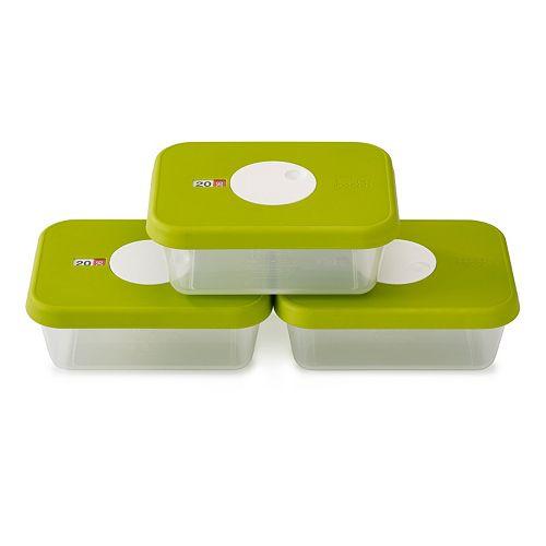 Joseph Joseph Dial Storage 3-piece Rectangular Container Set