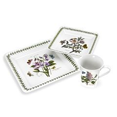 Portmeirion Botanic Garden 12 pc Square Dinnerware Set