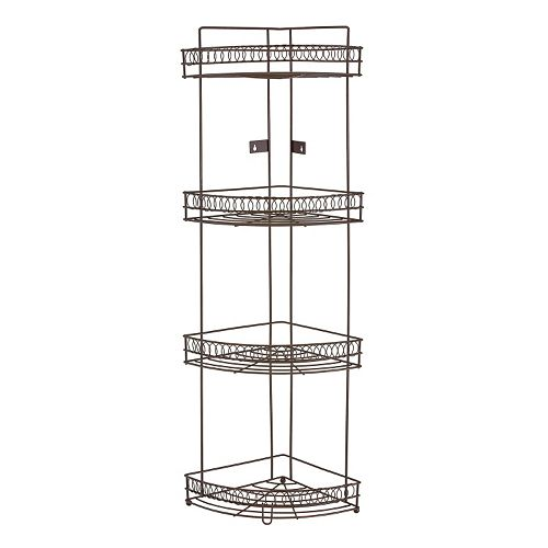 Bath Bliss Fancy Collection 4 Tier Corner Rack
