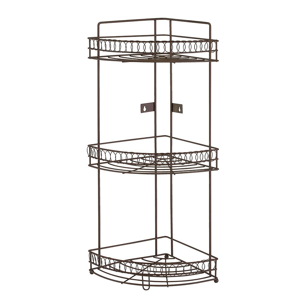 Bath Bliss Fancy Collection 3 Tier Corner Rack