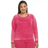 Plus Size Ten to Zen Burnout French Terry Lounge Sweatshirt