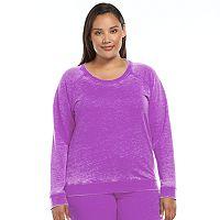 Plus Size Ten to Zen Burnout French Terry Lounge Sweatshirt