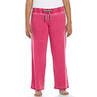 Plus Size Ten to Zen Burnout French Terry Lounge Pants