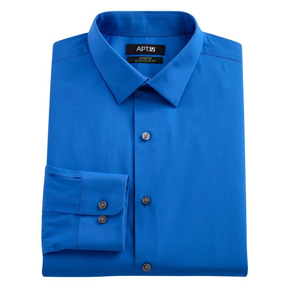 Apt 9 shirt size chart apt 9 extra slim solid stretch for Apartment 9 dress shirts