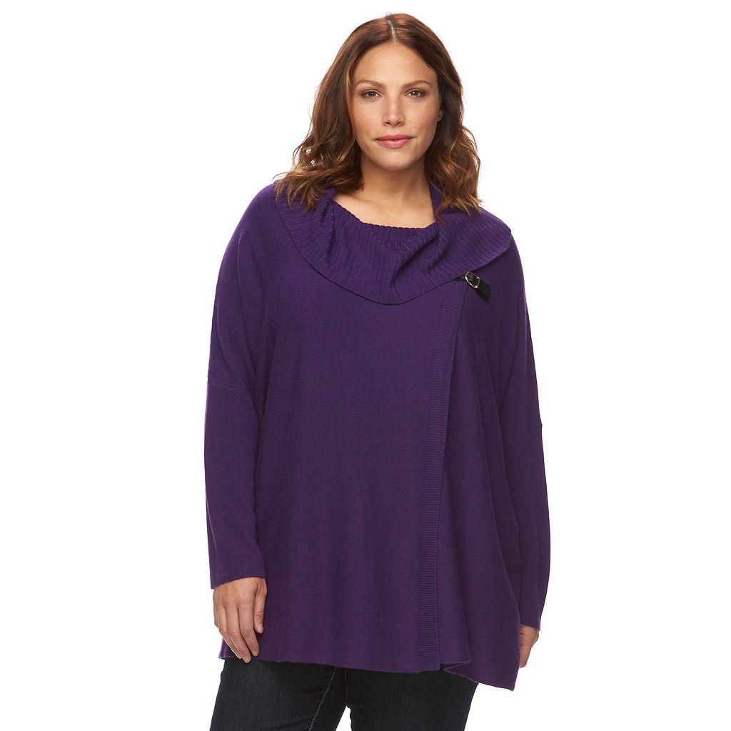Plus Size Napa Valley Cowlneck Sweater Poncho