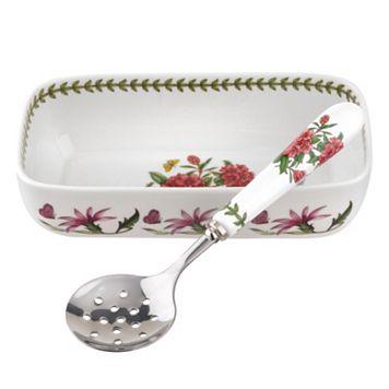 Portmeirion Botanic Garden 2-pc. Cranberry Dish & Spoon Set