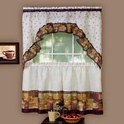 Coffee 3 pc Swag Tier Kitchen Curtain Set