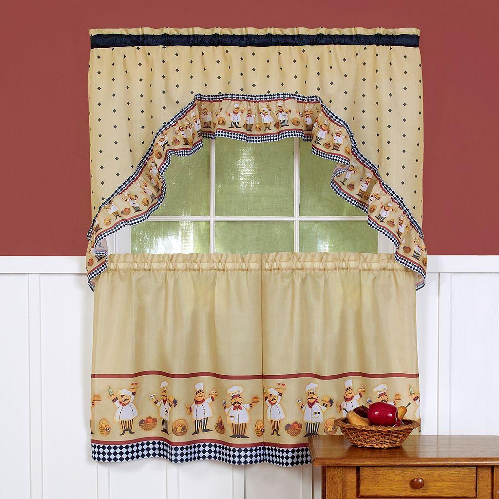 Cucina 3-pc. Swag Tier Kitchen Curtain Set