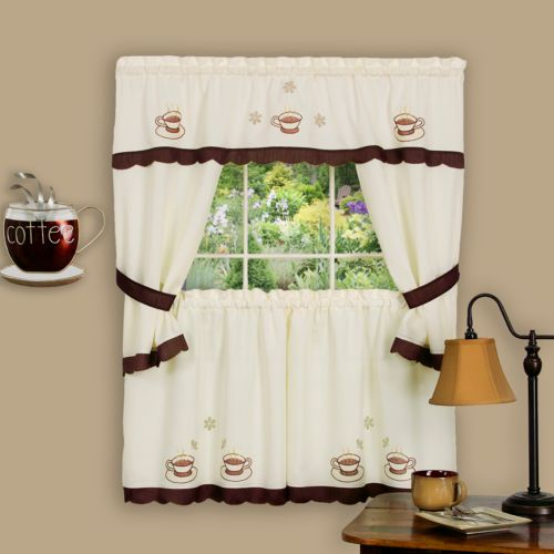 Cuppa Joe 5-pc. Swagger Tier Cottage Kitchen Curtain Set