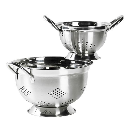 Basic Essentials 2-pc. Stainless Steel Colander Set