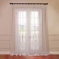 EFF Solid Sheer Voile Double-Wide Window Curtain