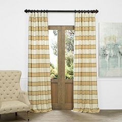 EFF Tyler Horizontal Striped Jacquard Faux Silk Window Curtain