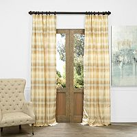 EFF Surge Ombre Horizontal Striped Jacquard Faux Silk Window Curtain