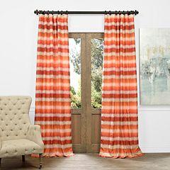 EFF Surge Ombre Horizontal Striped Jacquard Faux Silk Window Curtain