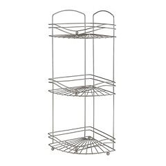 Bath Bliss 3 tier Chrome Corner Rack