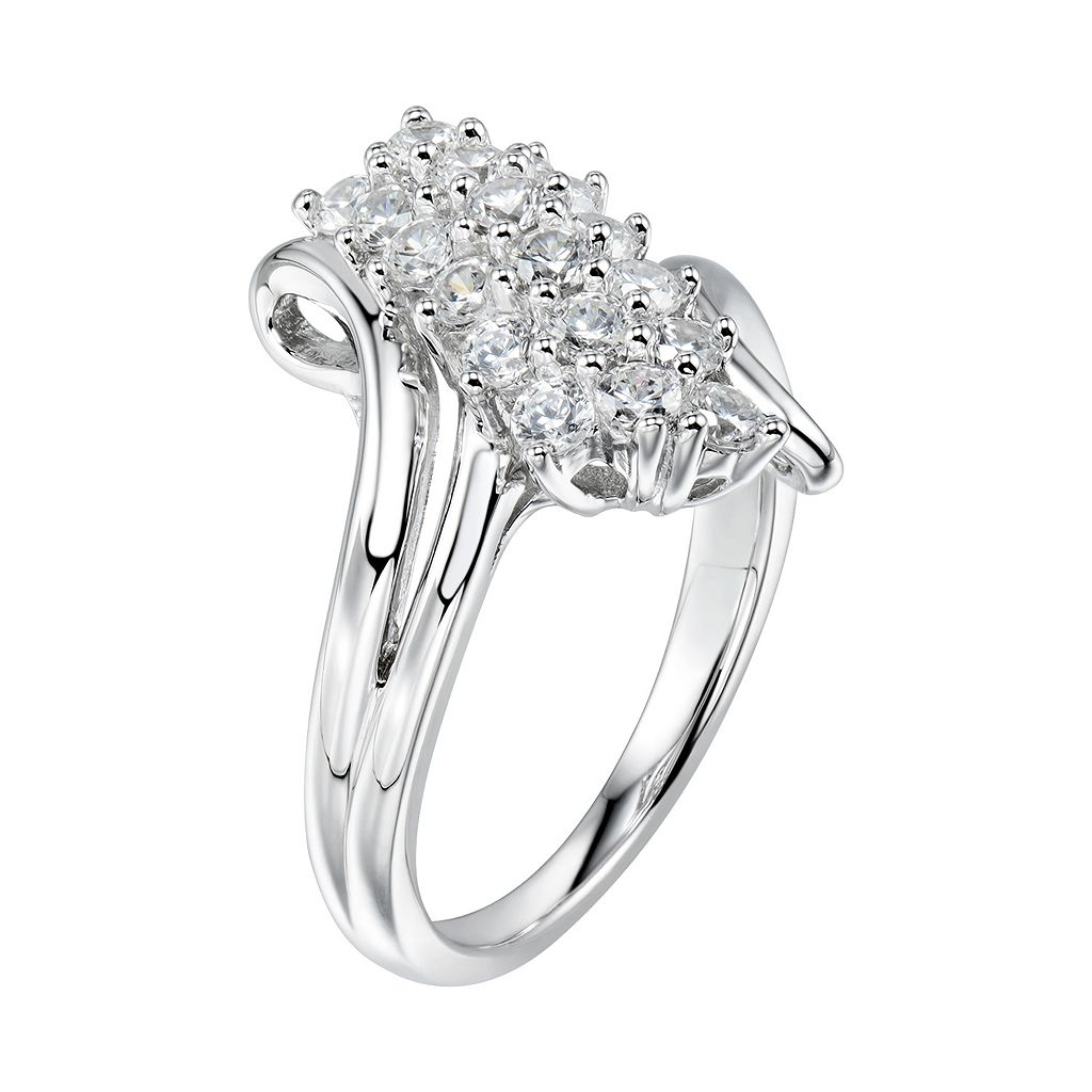 DiamonLuxe 1 7/8 Carat T.W. Simulated Diamond Waterfall Ring