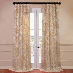 EFF 1-Panel Magdelena Faux Silk Jacquard Window Curtain