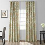 EFF 1-Panel Magdelena Faux Silk Jacquard Window Curtain