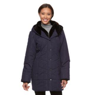Women's Croft & Barrow® Hooded Paisley Puffer Jacket