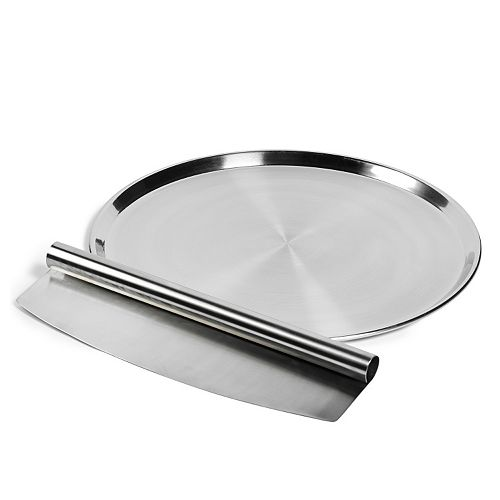 Basic Essentials 2-pc. Stainless Steel Pizza Set