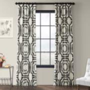 EFF 1-Panel Mecca Lined Window Curtain