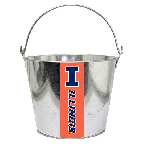 Illinois Fighting Illini Metal Bucket