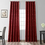 EFF 1-Panel Astoria Faux Silk Jacquard Window Curtain