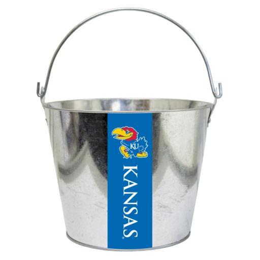 Kansas Jayhawks Metal Bucket