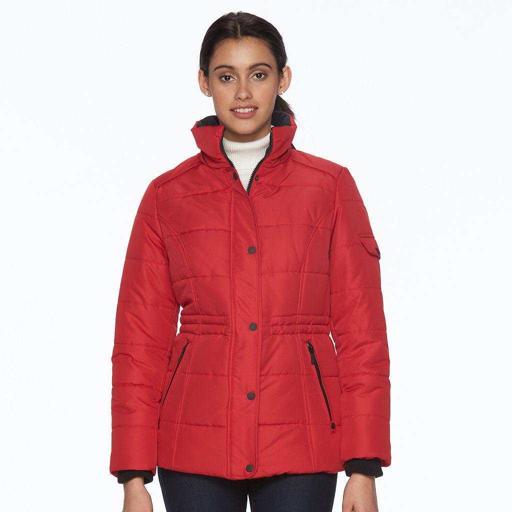 Women's d.e.t.a.i.l.s Full-Zip Hooded Puffer Jacket