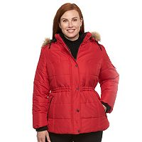 Plus Size d.e.t.a.i.l.s Full-Zip Hooded Puffer Jacket