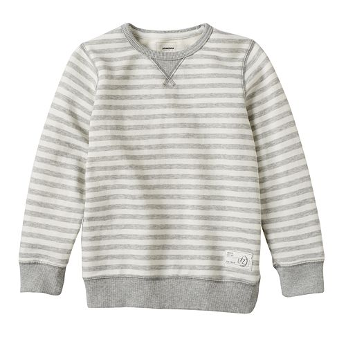 Boys 4-7x SONOMA Goods for Life™ French Terry Striped Crewneck Pullover