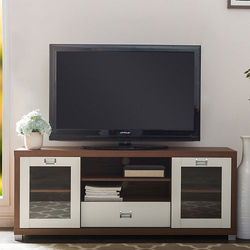 Baxton Studio Matlock Two-Tone TV Stand