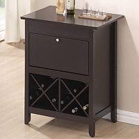 Baxton Studio Tuscany Dry Bar Wine Cabinet