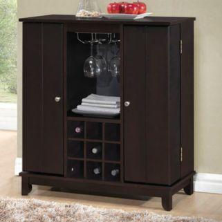 Baxton Studio Derremer Bar Cabinet