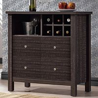 Baxton Studio Dakota Modern Wine Bar Cabinet