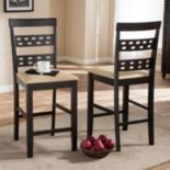 Baxton Studio Seville Counter Stool 2-piece Set