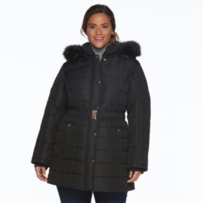 Plus Size d.e.t.a.i.l.s Hooded Quilted Jacket
