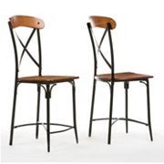 Baxton Studio Broxburn Bar Stool 2 pc Set