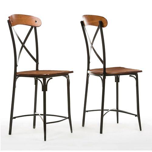 Baxton Studio Broxburn Bar Stool 2-piece Set