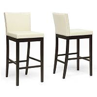 Baxton Studio Graymoor Modern Bar Stool 2-piece Set